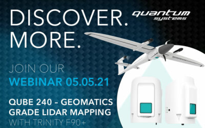 May 5th – New ways for aerial LiDAR mapping – the Qube 240 with the Trinity F90+ UAV